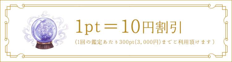 1pt=10円割引